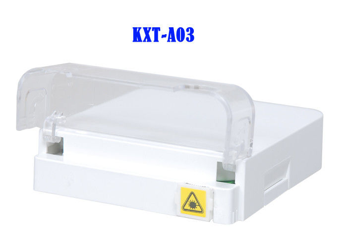 Flip Cover Splitter Fiber Optic Distribution Box G657A2 FTTH Termination Box ABS Flame Retardant